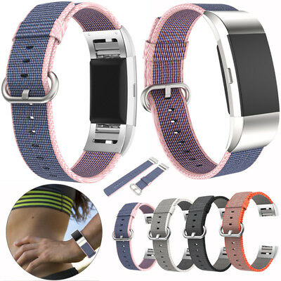 Sale Nylon Genuine Large Charge Strap Band Premium Suit For Fitbit 2 Bracelet