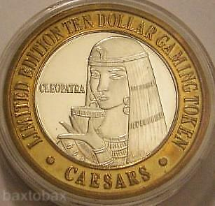 CAESARS TAHOE PURE Silver Strike  CLEOPATRA DRINKING FROM WINE GOBLET 1995