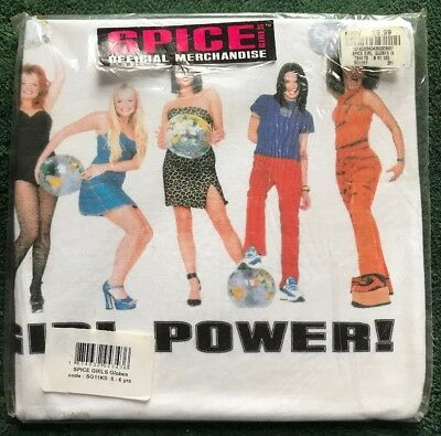 Spice Girls Official Merchandise Globe Tshirt Size Kids 5-6 Years Factory Sealed