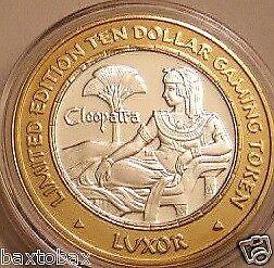 LUXOR 2000 Silver Strike  QUEEN CLEOPATRA ON EGYPTIAN THRONE