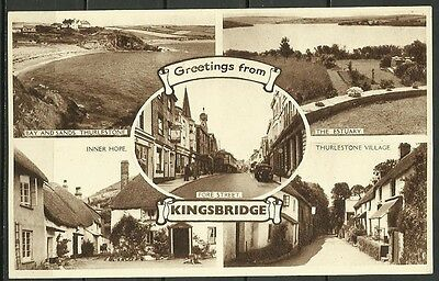 Ansichtskarte: Greetings from Kingsbridge - South West England