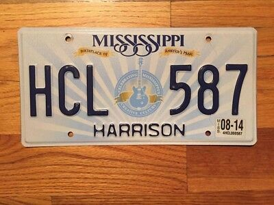 Mississippi Birthplace Of America's Music License Plate/tag ~Hcl 587~