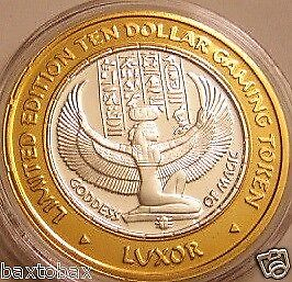 LUXOR 2001 Silver Strike  WINGED ISIS *GODDESS OF MAGIC*