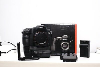 Sony Alpha a77 II body, Grip, 5 Batteries, And RRS L-plate/bracket