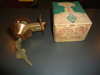 Vintage Weiser Dead Lock Satin Bronze Finish