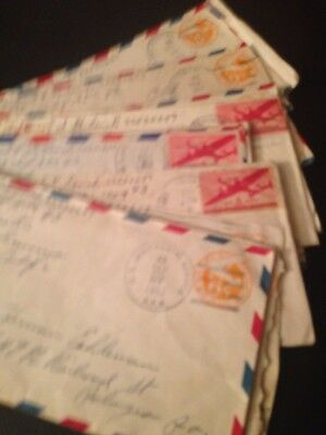 VINTAGE Lot of 21 WWII Envelopes With Stamps from Soldier