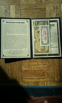 WW II Japanese Invasion Money - Certificate of Authenticity