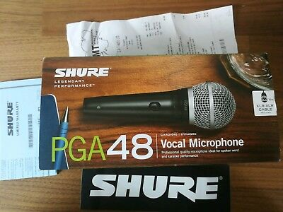 Shure PGA48 Vocal Microphone with 15ft XLR to XLR cable