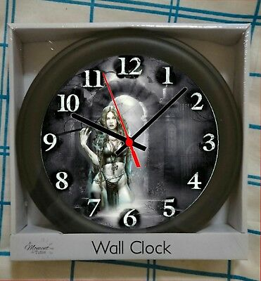 gothic themed wall clock