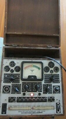 PRECISION APPARATUS SERIES 912 ELECTRONAMIC TUBE TESTER & Supplement Data Charts