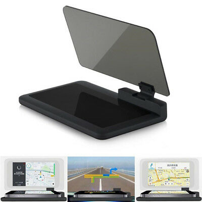 H6 Car Auto GPS HUD Head Up Display Smart Phone Mount Holder Stand Projector DE