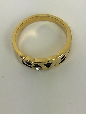 Vintage EDCO Love Ring Size 6.5 w/ Diamond