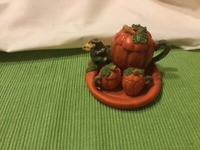 mini teapot  pumpkin mouse set