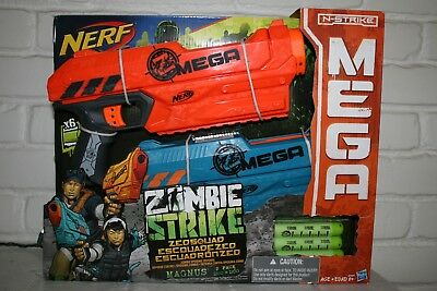NEW Nerf Zombie Strike ZED Squad Magnus Blaster 2-Pack - Toy Dart Guns Play Set