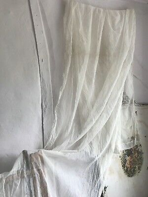 Antique French Lace Veil 19C Fabric/ Vintage Wedding Projects Something Old Rare