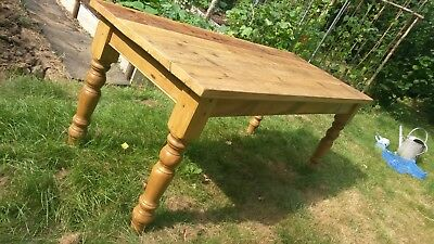 Handmade 6ft Pine Farmhouse Victorian Style Rustic Dining Table