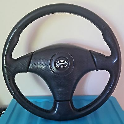 Toyota Leather Steering Wheel to fit MR2 Celica Supra with Airbag