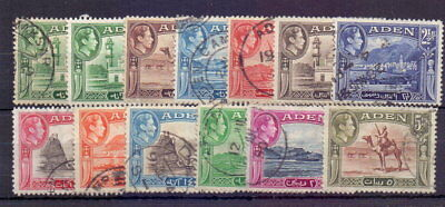 ADEN 1939-48 GVI SET TO 5r INC ½a SHADE ( 13 ) SG16-26 USED ( FAULTS ) CAT £32