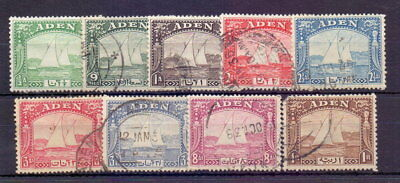 ADEN 1937 DHOWS TO 1r ( 9 ) SG1-9 USED CAT c£55