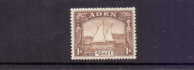 ADEN 1937 1r DHOW BROWN SG9 MH CAT £60