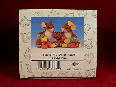 """Fitz & Floyd Charming Tails """"YOU'RE MY SWEET HEART"""" NEW IN BOX"""