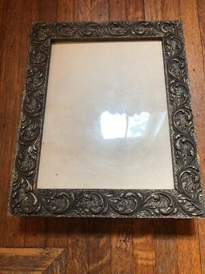 Antique Vintage Victorian Gesso Over Wood Picture Frame