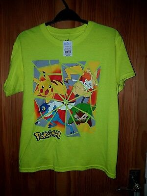 BNWT Pokemon Tshirt neon green color XL Boys