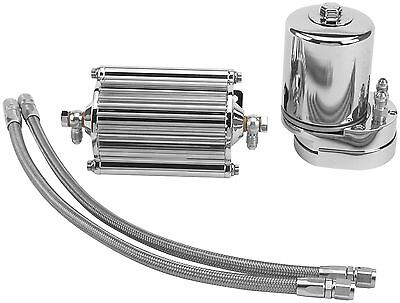 Feuling Oil Filter Cooler - Chrome - 2000