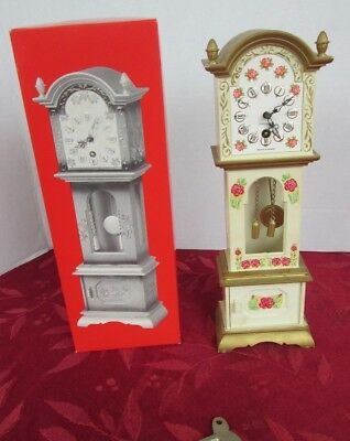 Vintage Trenkle Miniature Grandfather Clock - Made in West Germany WORKS