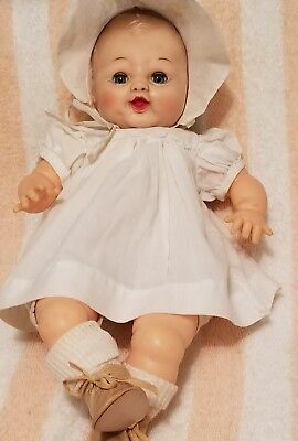 """1958 Arranbee Little Love baby doll 16"""" deeply molded hair marked on neck"""