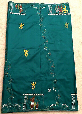 Indian Designer Saree Green pure silk real zari (blouse)