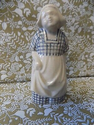 "RARE 4 1/4"" / 11cm DOULTON LAMBETH DUTCH GIRL FIGURINE 1912 LESLIE HARRADINE"
