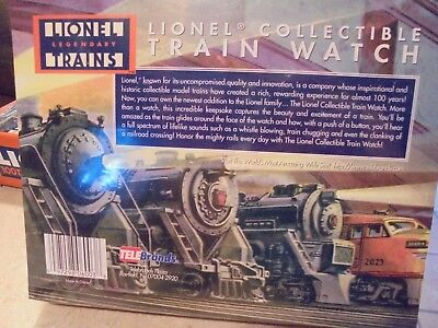 Lionel Collectible Train Watch-NIB-as seen on TV-motion & train sounds-NEAT