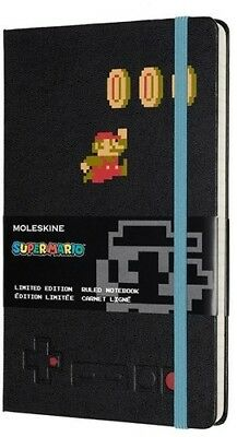 Moleskine Limited Edition Notebook, Super Mario, Mario in Motion /Black, Large,