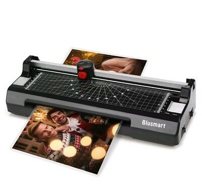 3 in 1 Laminator Laminating Machine Set With Paper Trimmer Cutter Corner Black