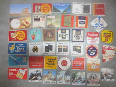 38 different TOBACCO / CIGARETTE Advertising coasters  Issue BEER COASTERS