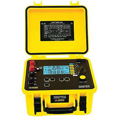 AEMC 6240 Micro-Ohmmeter (10A, Instantaneous, Continuous, Multiple Test)