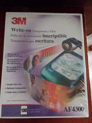 3M Write-on Transparency Film AF4300 (New/Sealed - 100 Sheets - Free Shipping)