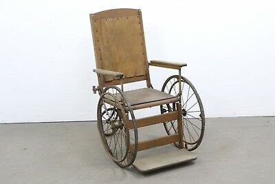 Antique 3 Wheel Victorian Wheelchair