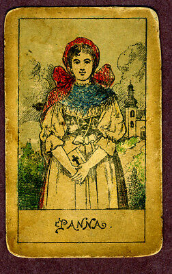 Antique fortune telling cards by Josef Glanz, Austria
