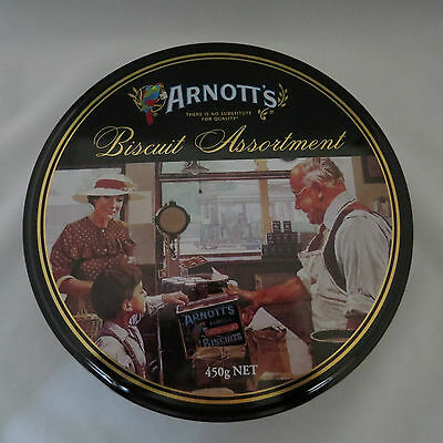 Arnott's Biscuit Assortment Grocery Store Empty Biscuit Tin 450gms