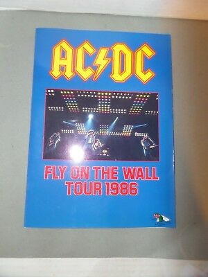 """Ac/dc 1986 """" Fly On The Wall """" World Tour Program"""