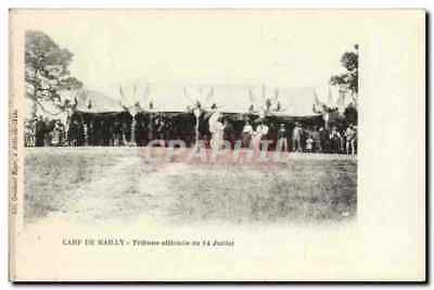 Militaria Camp of Mailly Vintage Postcard official Platform of July 14th