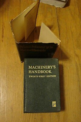 MACHINERY'S HANDBOOK 21ST EDITION with dust jacket 1979
