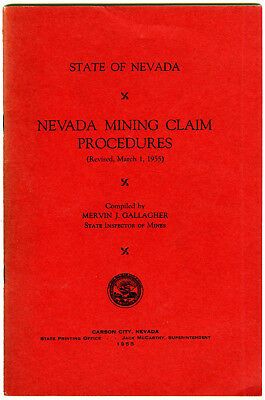 "1955 Booklet ""Nevada Mining Caim Procedures"""