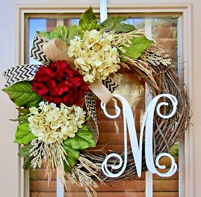 Spring Wreath Front Door Grapevine With Butterflies Grapes Floral