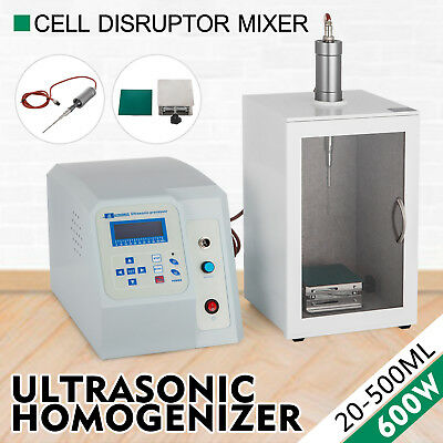 Ultrasonic Homogenizer Sonicator Processor Cell Disruptor Mixer 600W 10-500ml CE