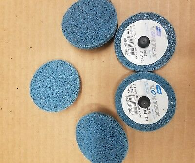 5 norton grinding deburring discs 2×1/4in.