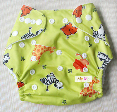 Baby Boy Girl Cloth Diaper One Size Adjustable Hip Snaps Nappy Pocket Cover H36