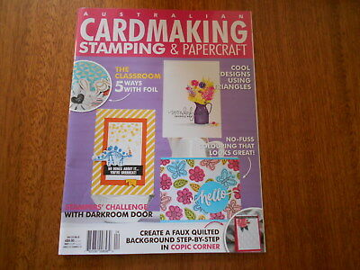 Aust Cardmaking, Stamping & Papercraft Magazine Vol 22 No 8  - Good Condition -